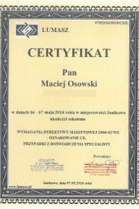 Maciej Osowski dyrektywa maszynowa 2006 42 WE